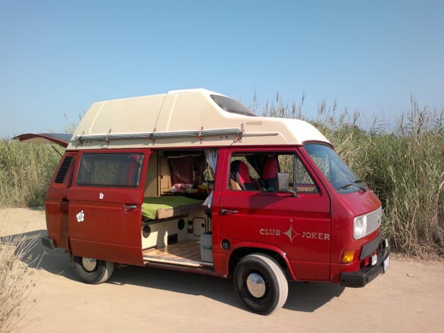 vw t3 campers rental and hire malaga spain. Black Bedroom Furniture Sets. Home Design Ideas