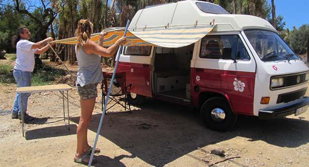 vw campers for rent in malaga spain